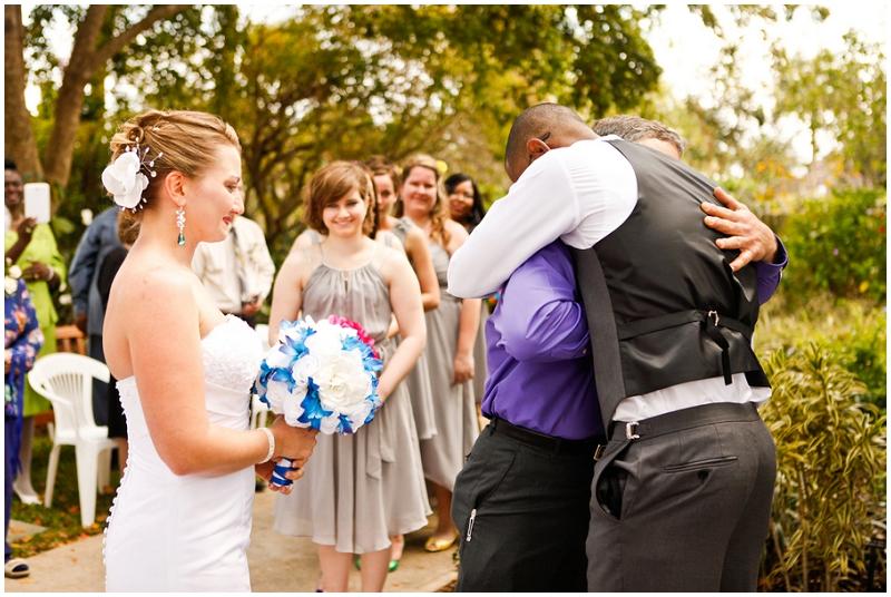 giving bride away