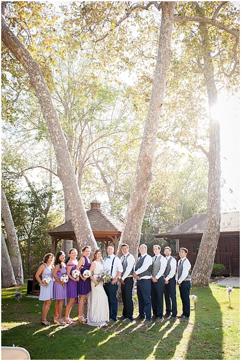 purple wedding attire