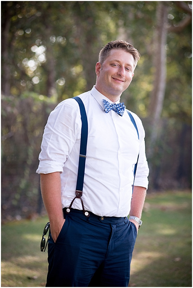 suspenders groom attire