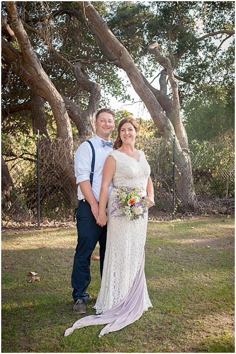 california bride and groom photos