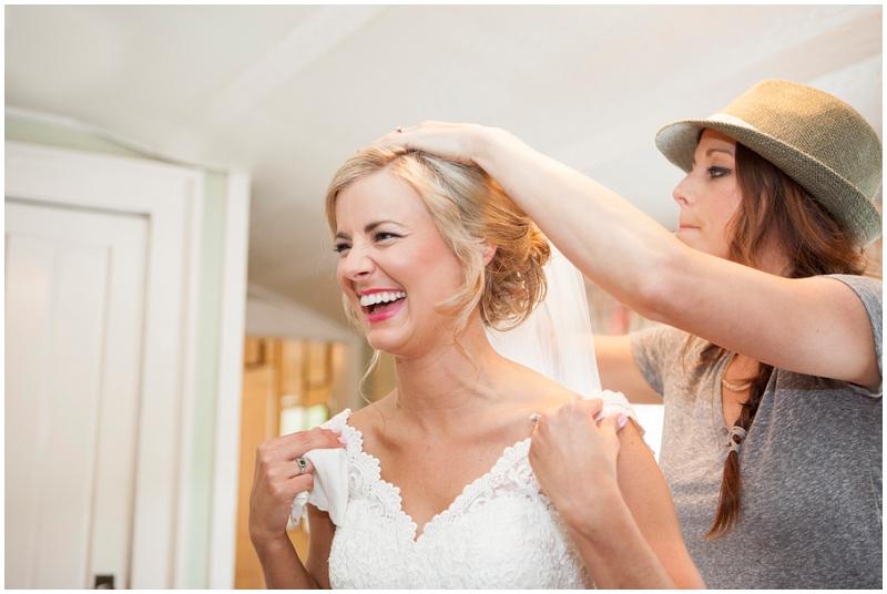bride getting wedding