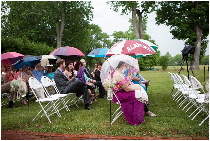 umbrellas at wedding