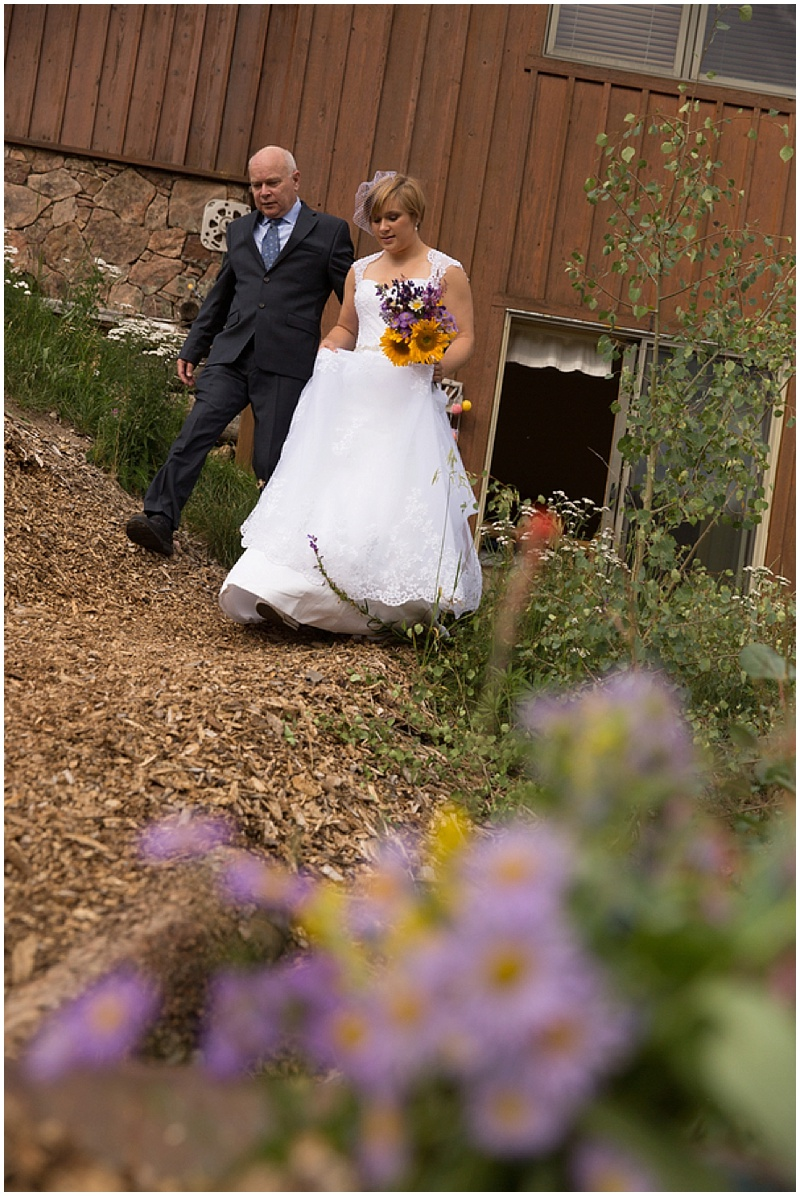 colorado wedding ceremony processional