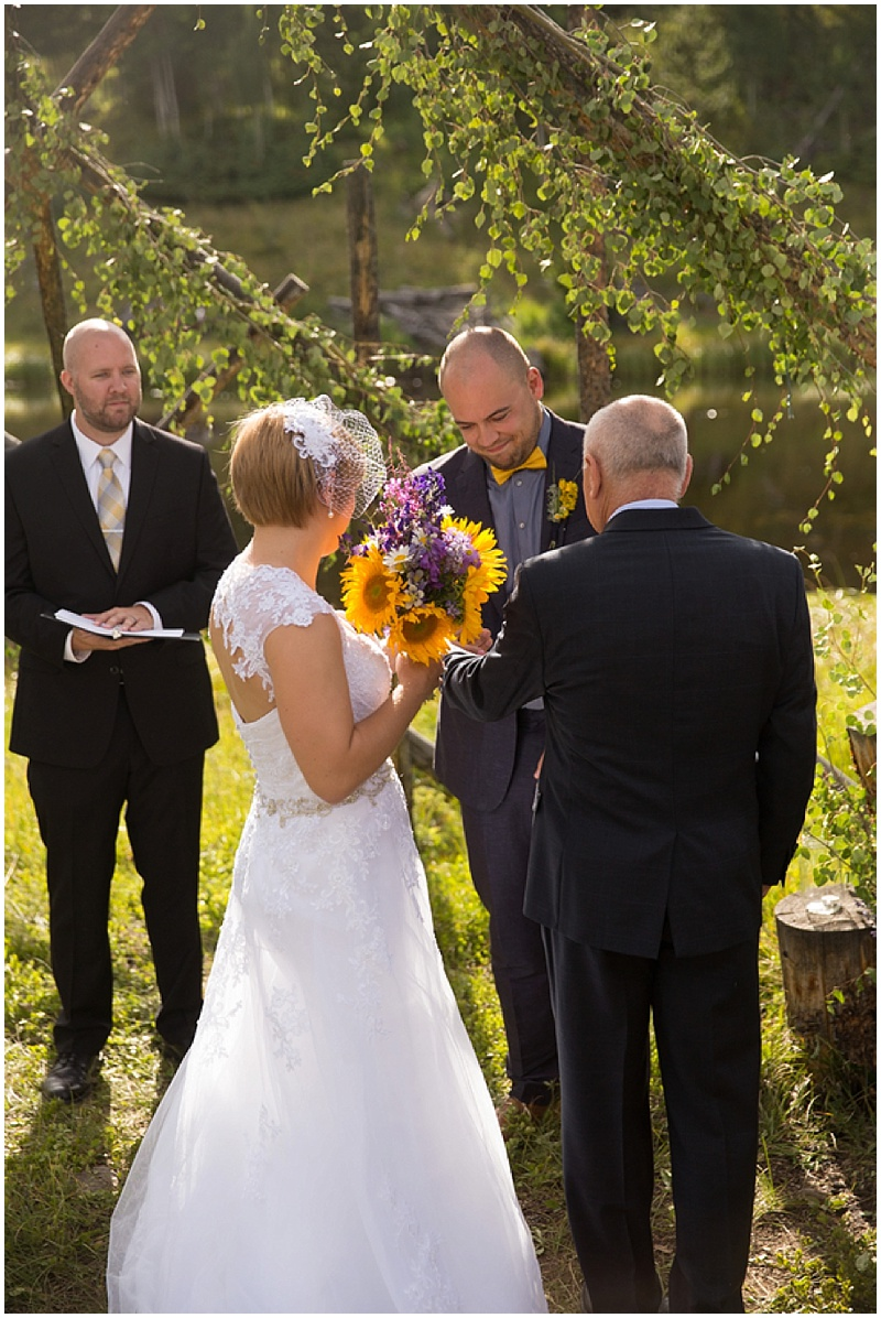 colorado wedding ceremony