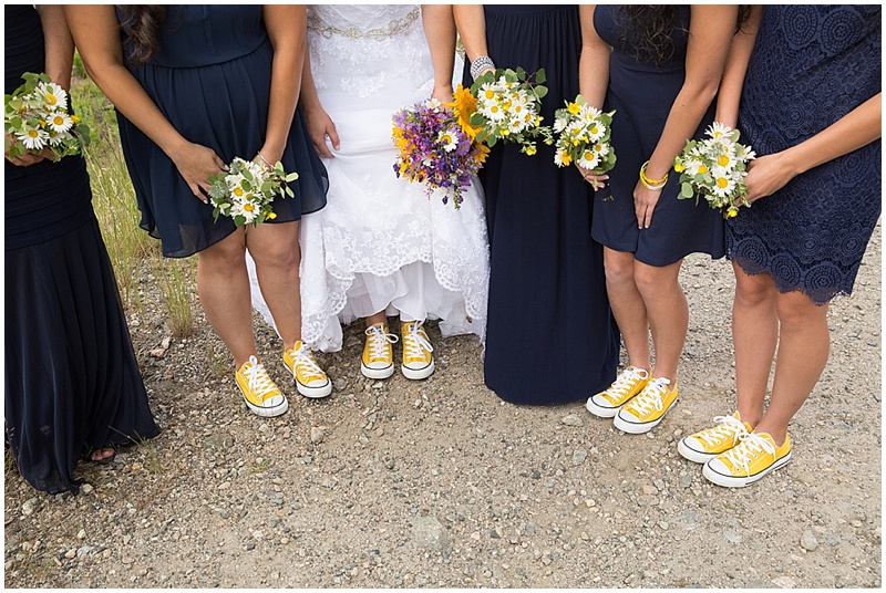 bride yellow converse