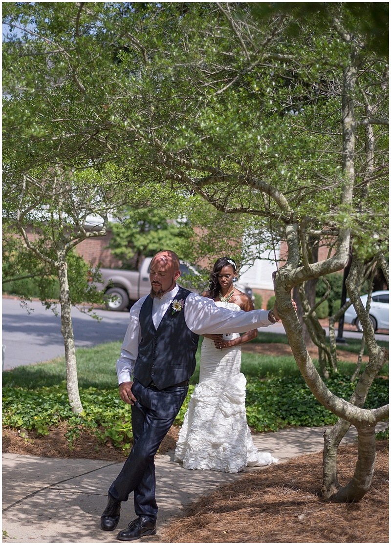 First Look Garden Wedding Ceremony Intimate