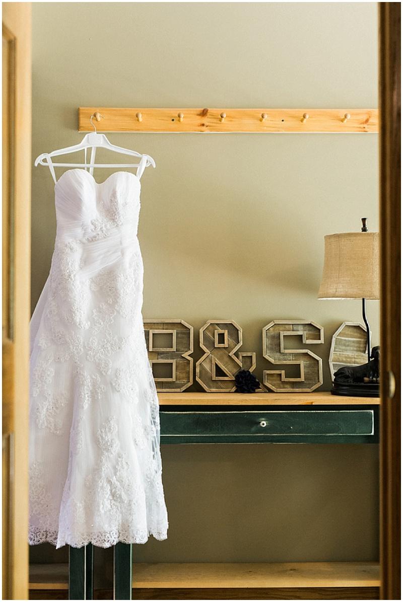 strapless wedding dress - rustic farm wedding
