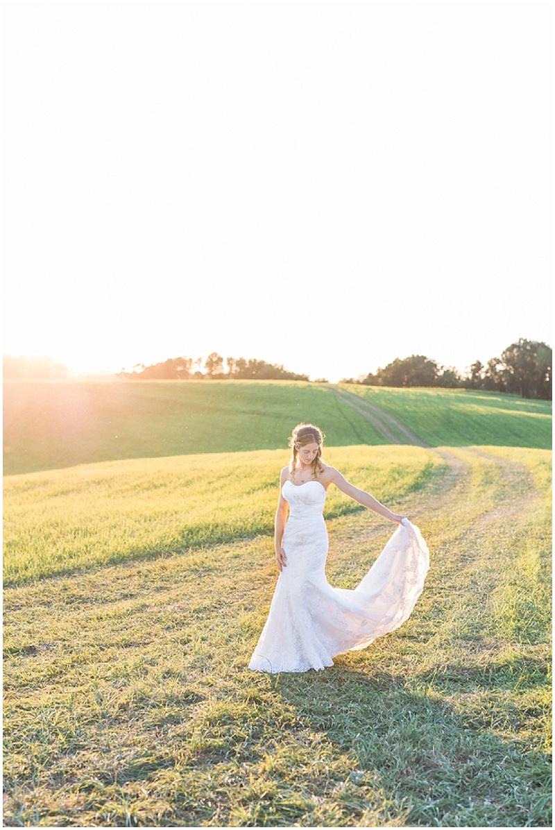 country bridal photos