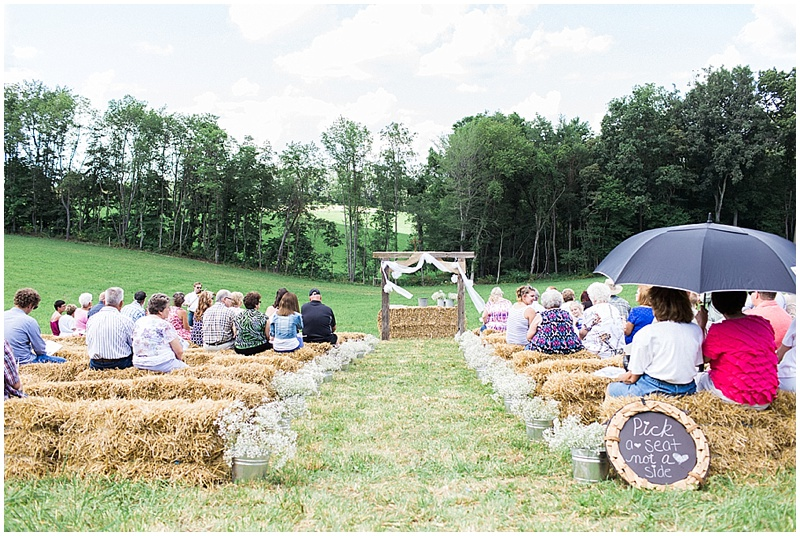 rustic farm wedding- outdoor wedding ceremony