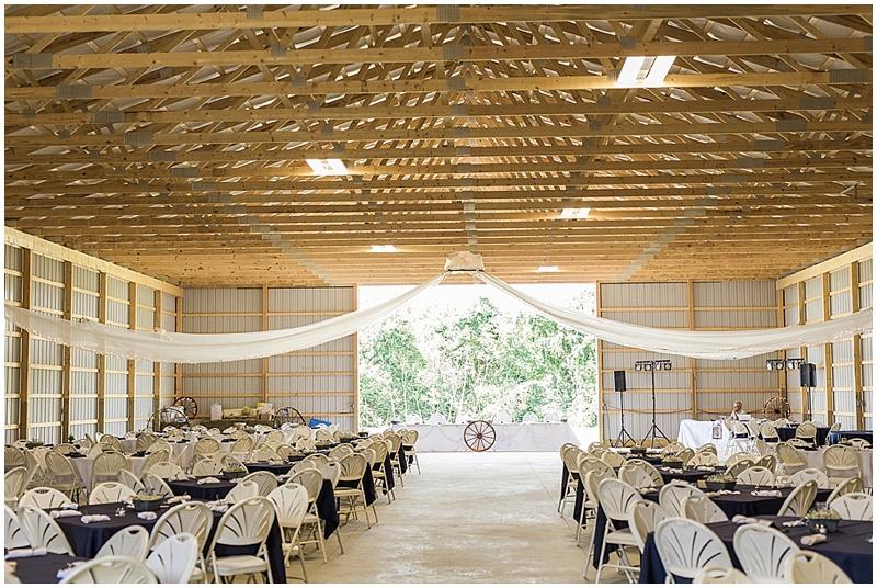 rustic farm wedding reception