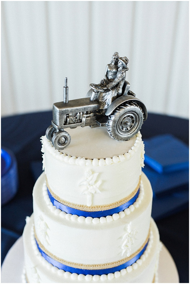 tractor wedding topper - rustic farm wedding