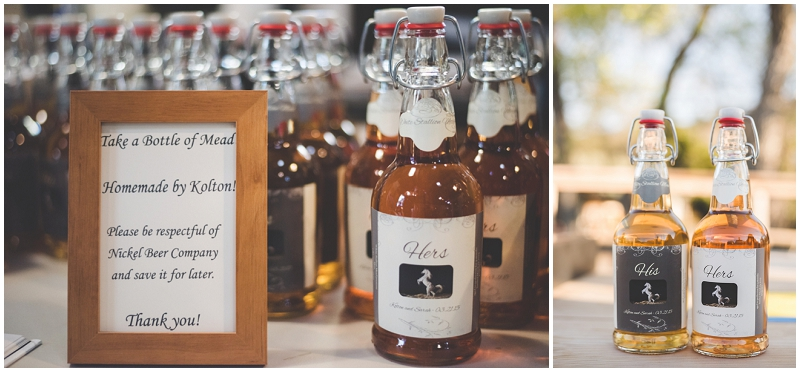 homemade mead wedding favor