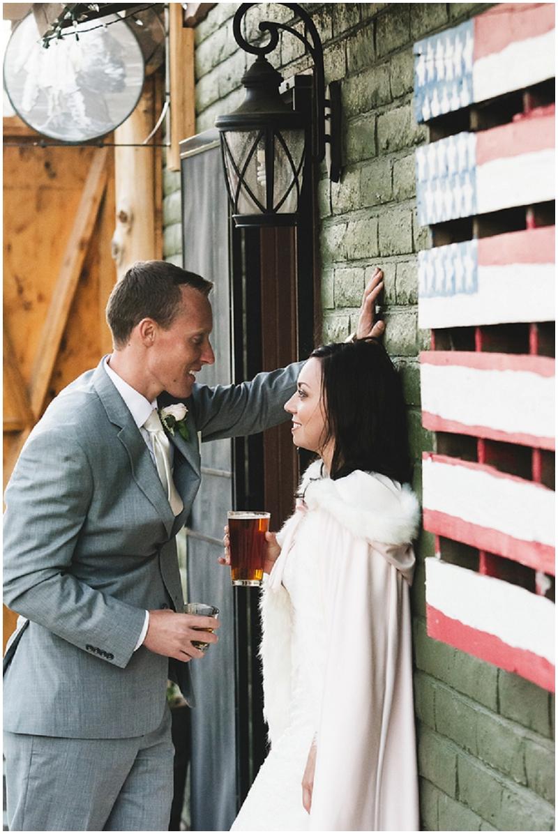 wedding reception brewery