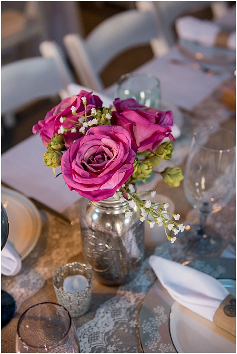 roses reception decor