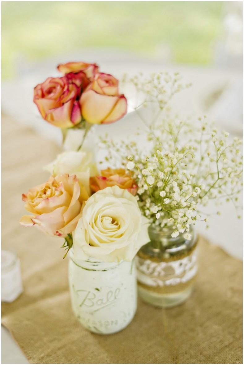 rose wedding reception table decor