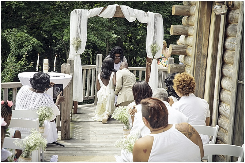 outdoor deck wedding ceremony
