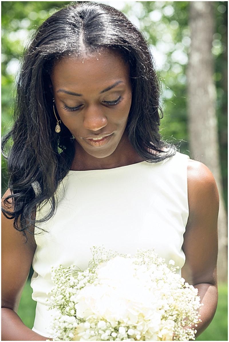 white wedding boutquet