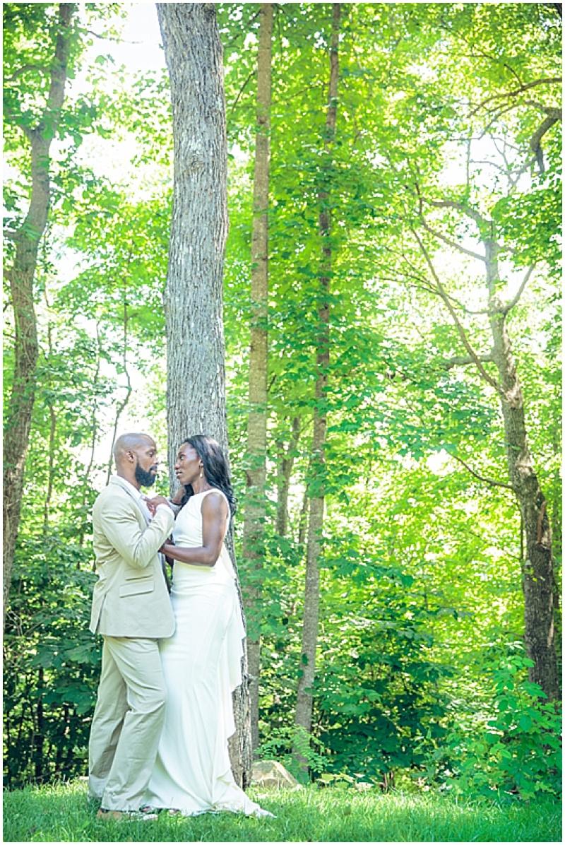 wood wedding photos