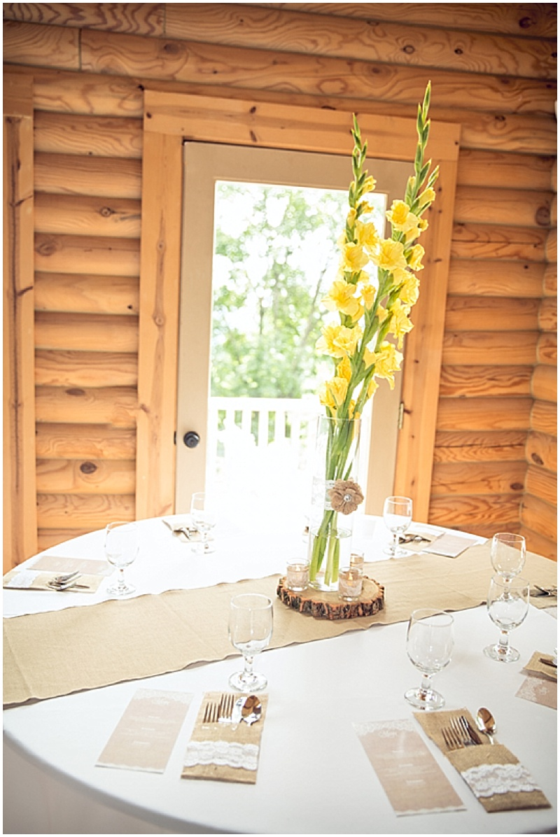 yellow gladiola wedding centerpieces