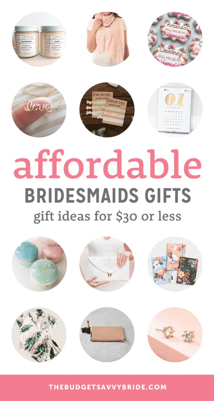 affordable bridesmaids gift ideas