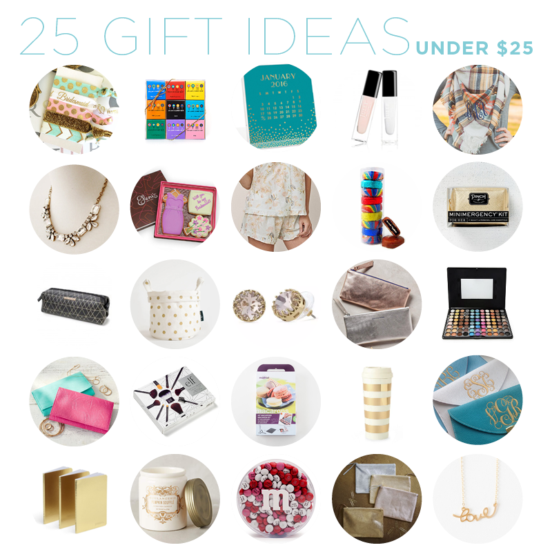 Gift Guide 25 Bridesmaids Gift Ideas Under 25 The