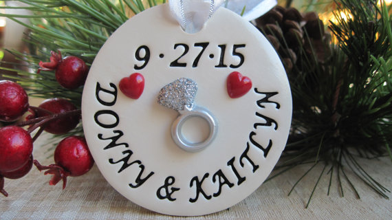 Engagement Ornament by StoneRowStudio