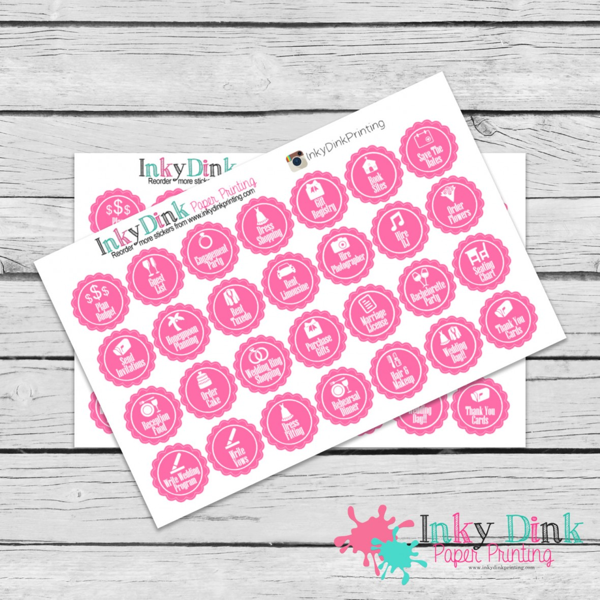 Wedding Planning Planner Stickers - Gift idea for newly engaged bride