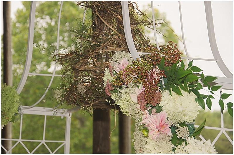 rustic wedding venue decor