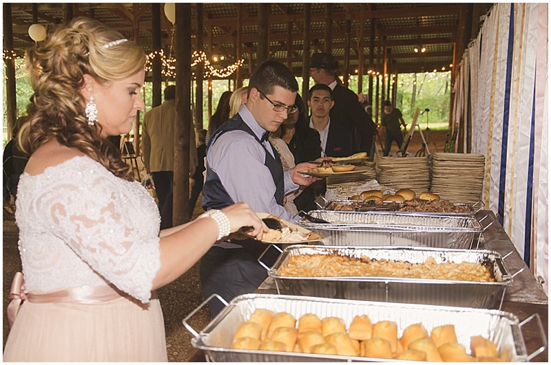 BBQ wedding reception