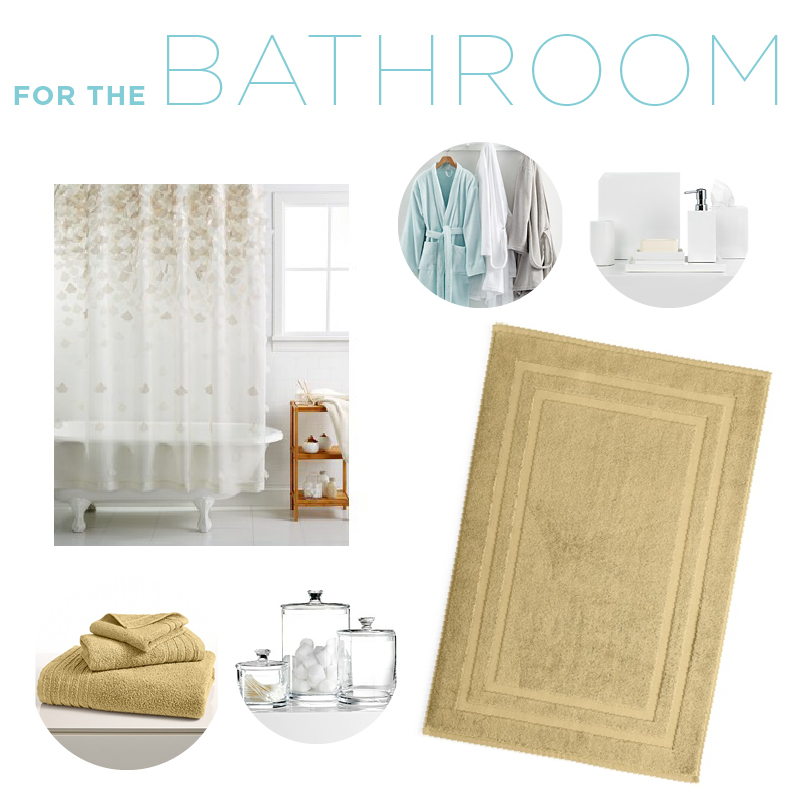 Bed and Bath Items for Your Wedding Registry-bath