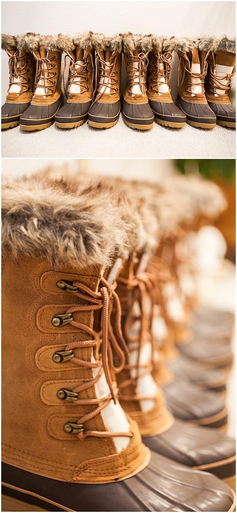 winter bridesmaid boots