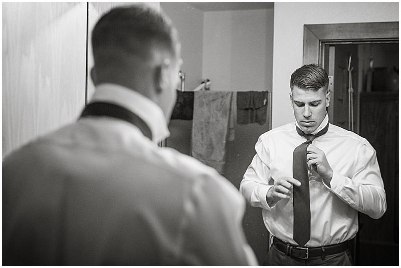 groom getting