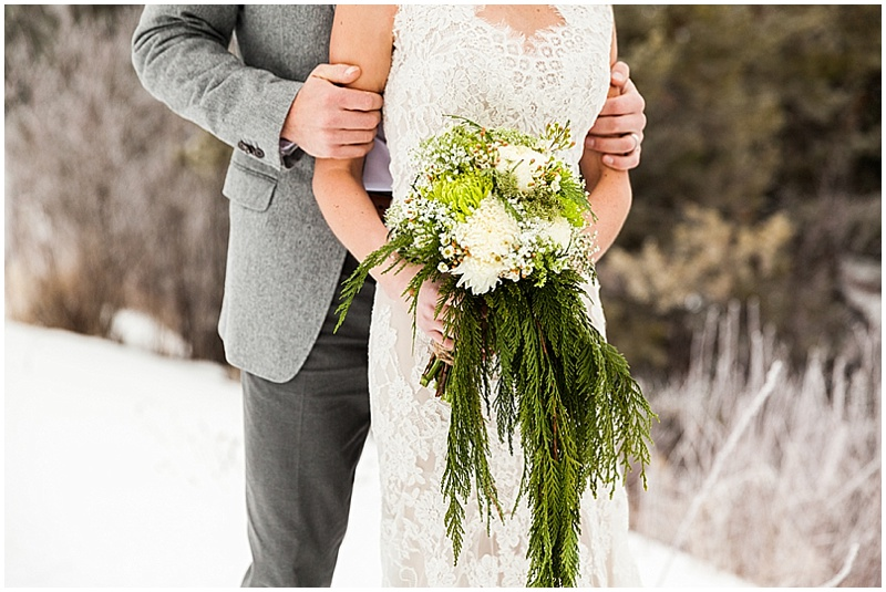 evergreen wedding bouquet