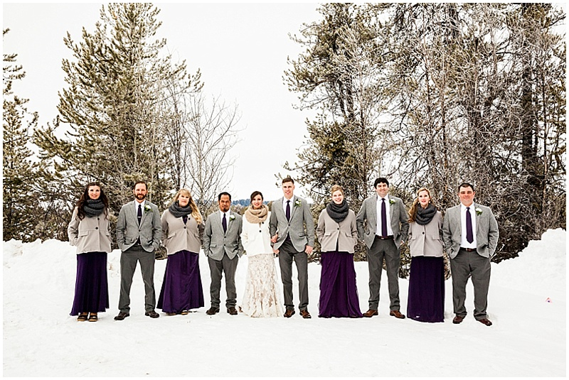 winter wedding attire