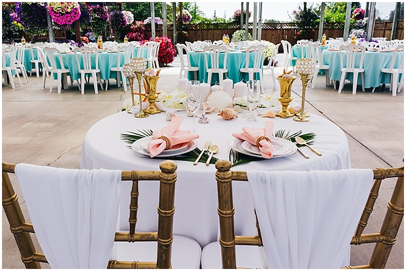 ocean inspired wedding reception decor