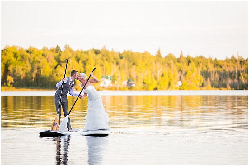 paddle board wedding photos