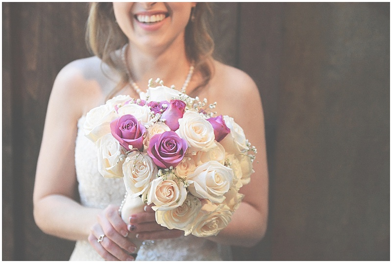 pink and white wedding bouquet