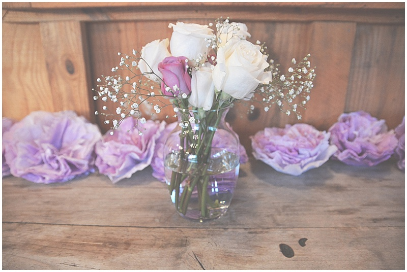 pink, purple and white wedding