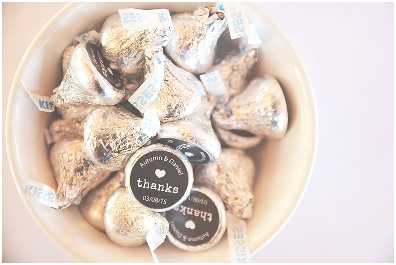 Hershey kisses favors