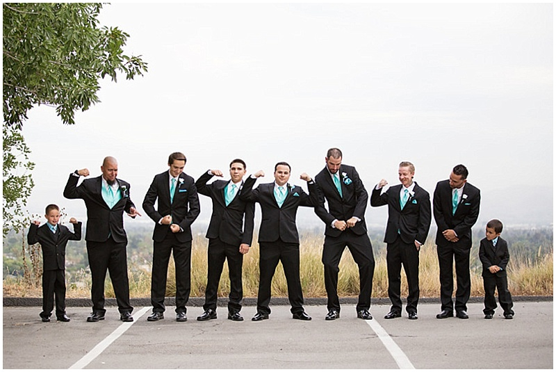 black suits groomsment