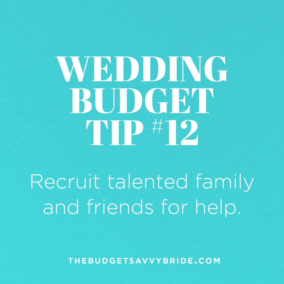recruit talented friends and family for your wedding