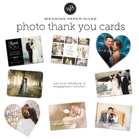 Photo Thank You Cards from Wedding Paper Divas