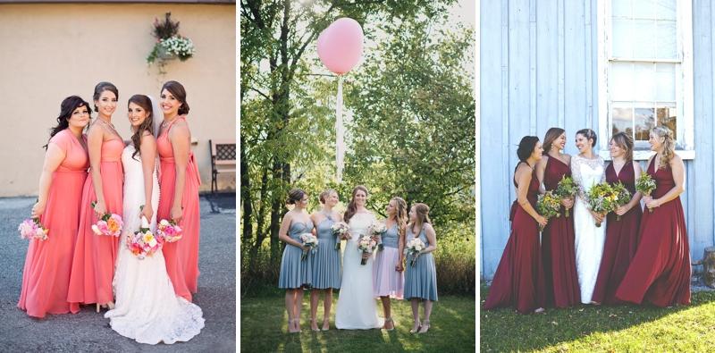 henkaa convertible bridesmaids dresses