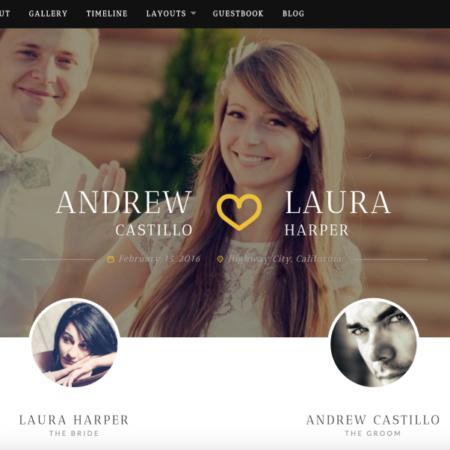 neeqah wordpress theme for wedding website