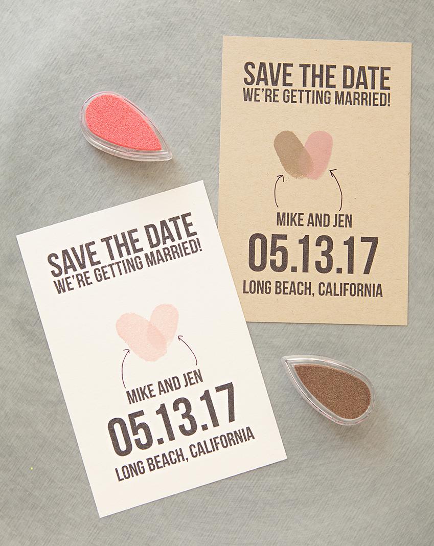 thumbprint save the date free printable