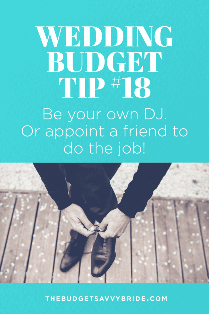 Be your own DIY wedding dj with these tips from The Budget Savvy Bride!