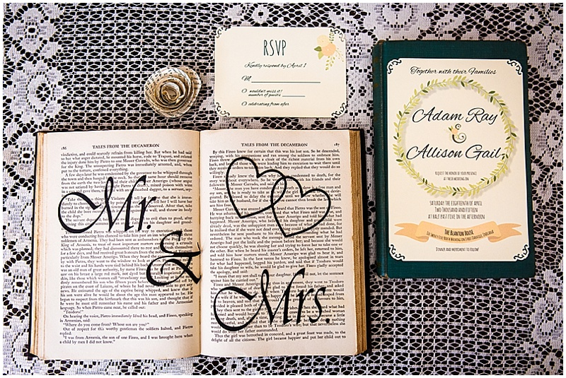 book themed wedding