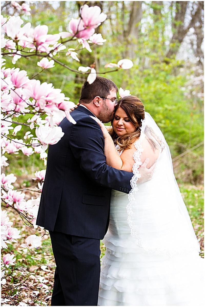 magnolia tree wedding photos