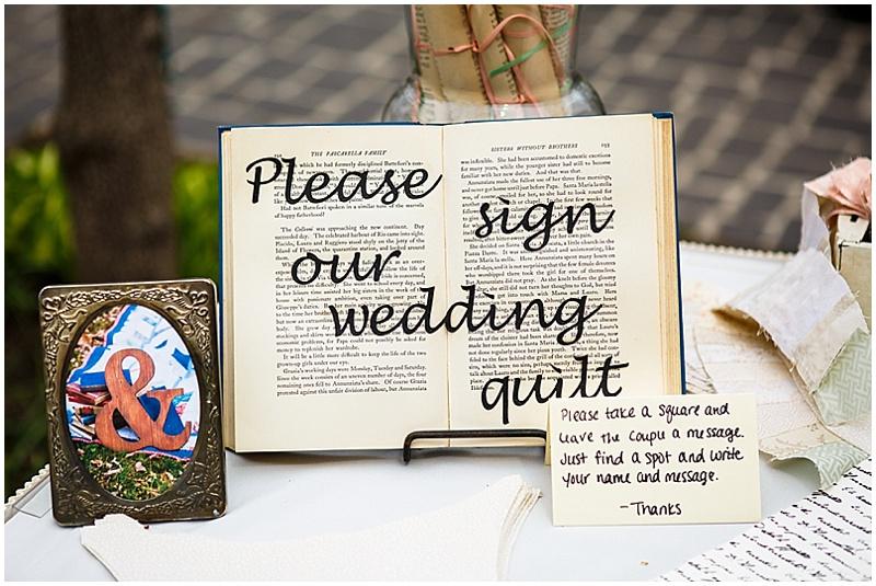 unique wedding guest book
