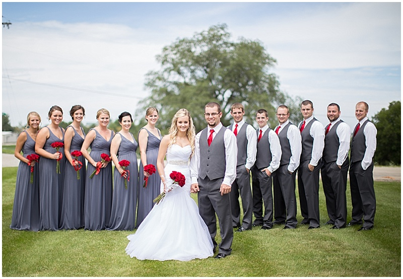 Outdoor Gray, White and Red Wedding   The Budget Savvy Bride